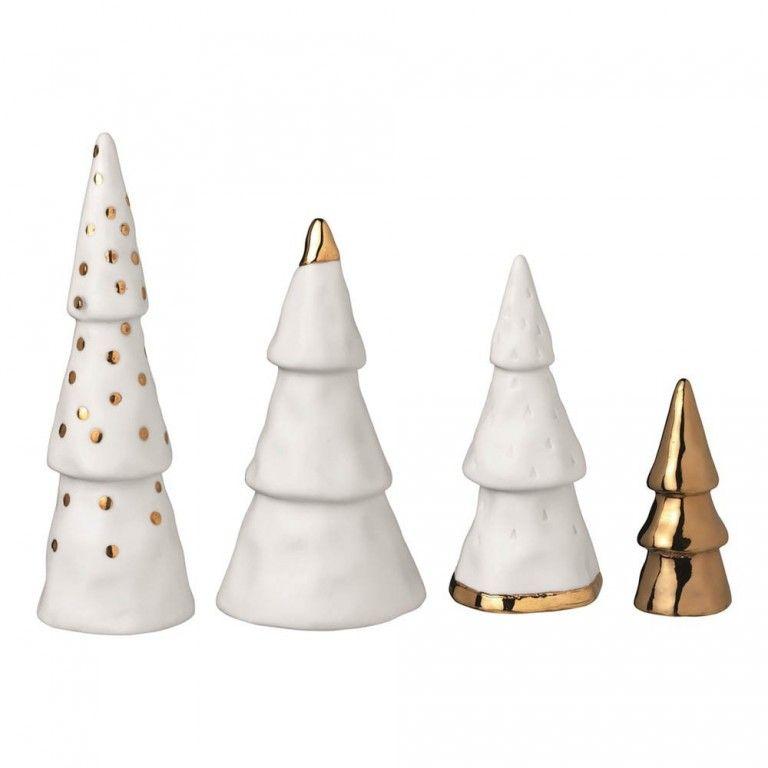 Une déco de Noël en céramique blanche