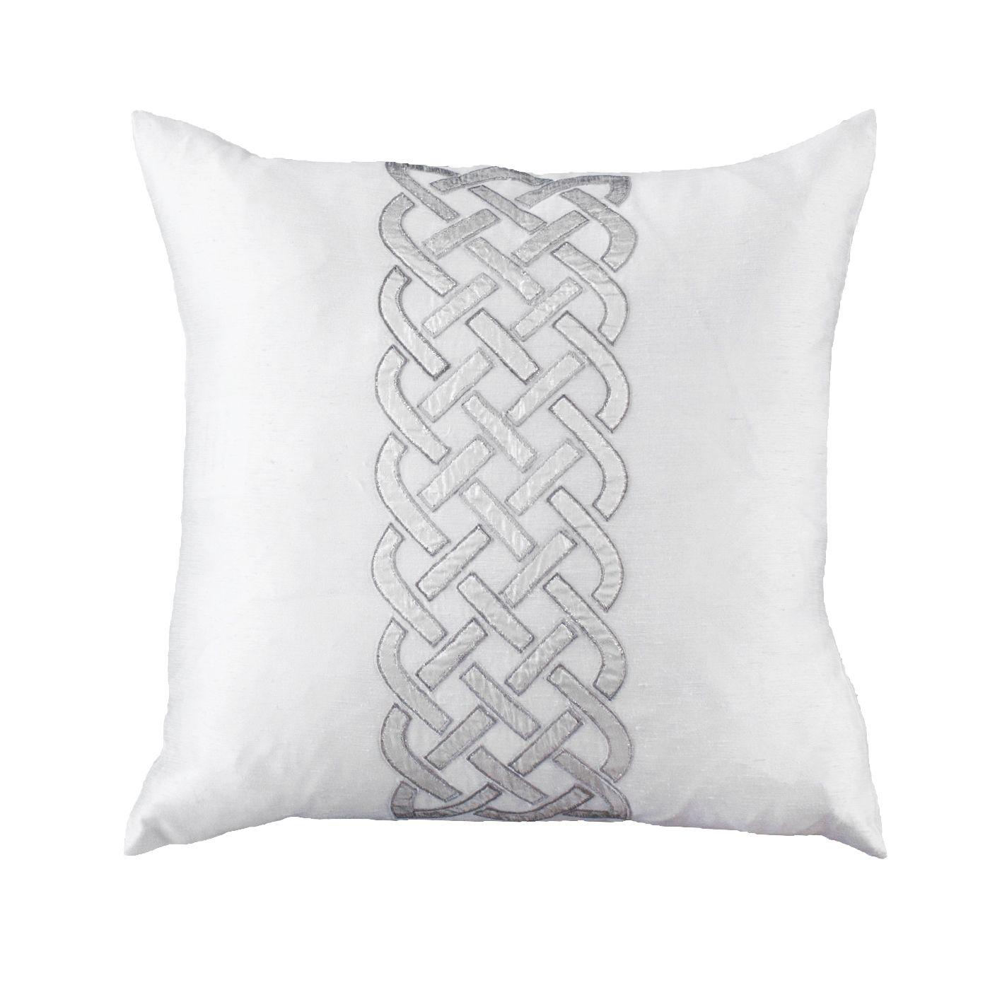 Irish knot silver medium cushion 50x50cm bandhini