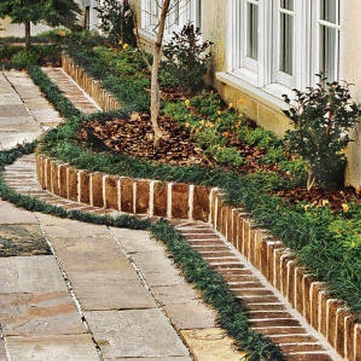 Recycled Landscape Edging Ideas Brick Garden Brick Garden Edging Brick Landscape Edging