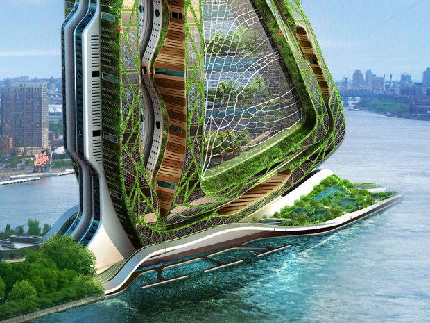 Vincent callebaut architectures dragonfly vertical farm concept in nyc