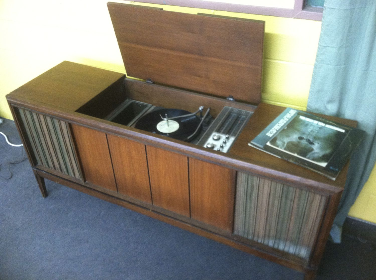 Old Record Player Console
