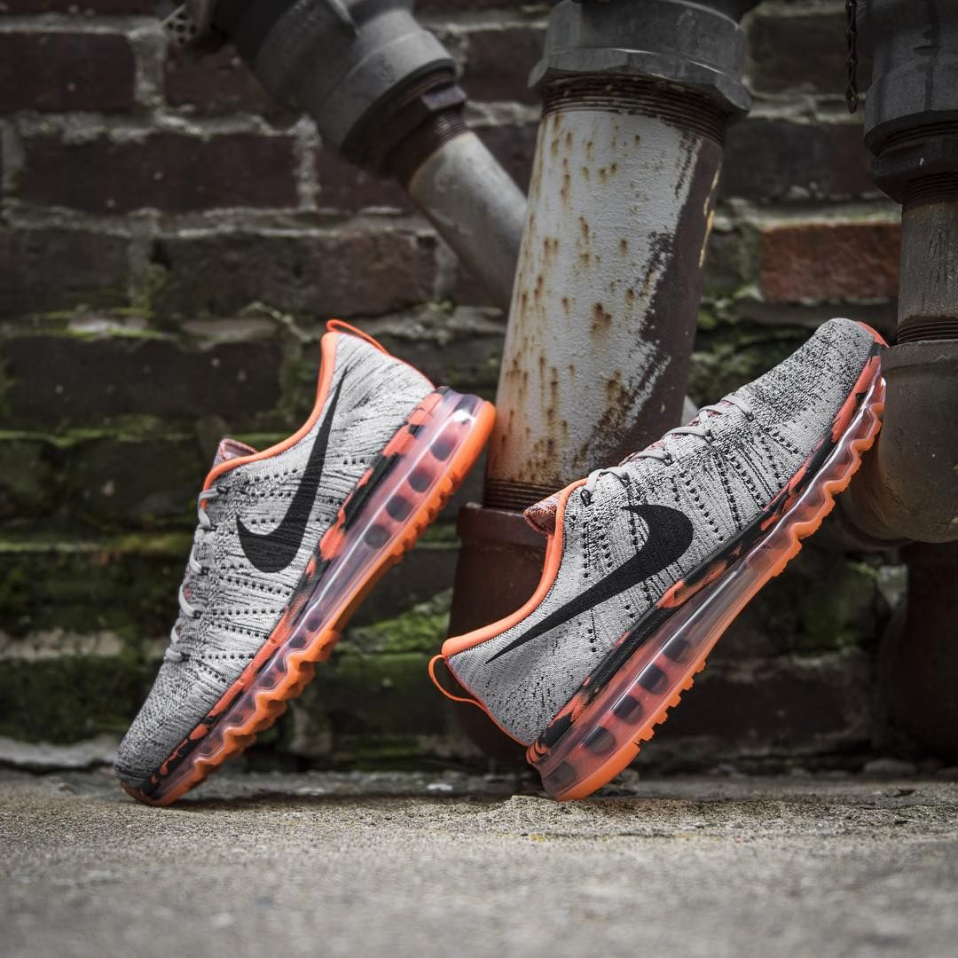 best website d4837 401d3 Nike Flyknit Air Max: Wolf Grey/Total Orange | athletic clothes ...