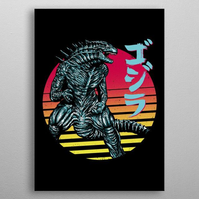'Rad Kaiju' Poster Print by Denis Orio Ibañez | Displate