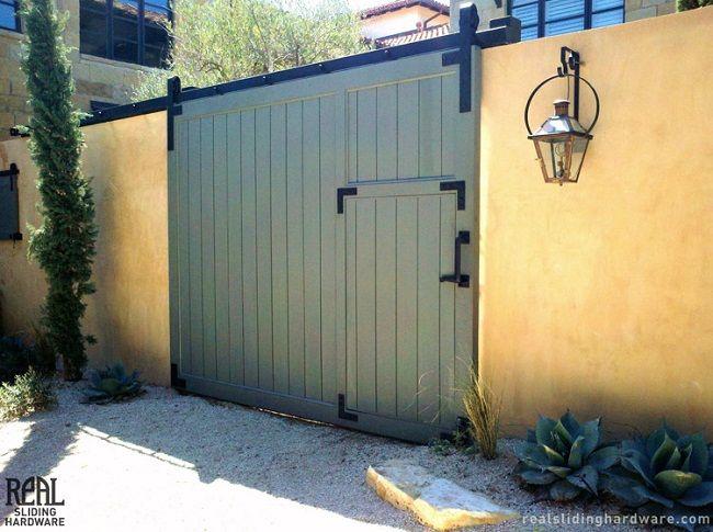 sliding barn door gate | Door Designs Plans | Garage door ...