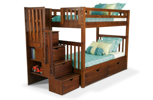 Colorado Stairway Bunk Bed Bunk Beds Wood Bunk Bed With Stairs Kids Bunk Beds