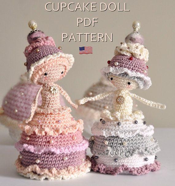 Cupcake doll crochet amigurumi little inspiring by lescreasdeclo