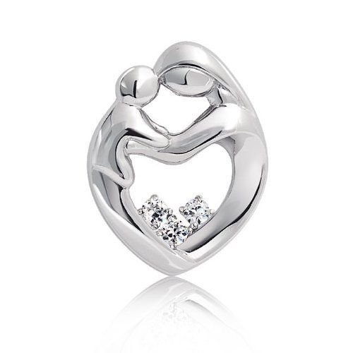 Bling Jewelry 925 Sterling Silver Mother and Child Family CZ Heart Pendant Bling Jewelry. $32.99. Chain Not Included. .925 Sterling silver. Weighs 3.5 grams. Cubic zirconia