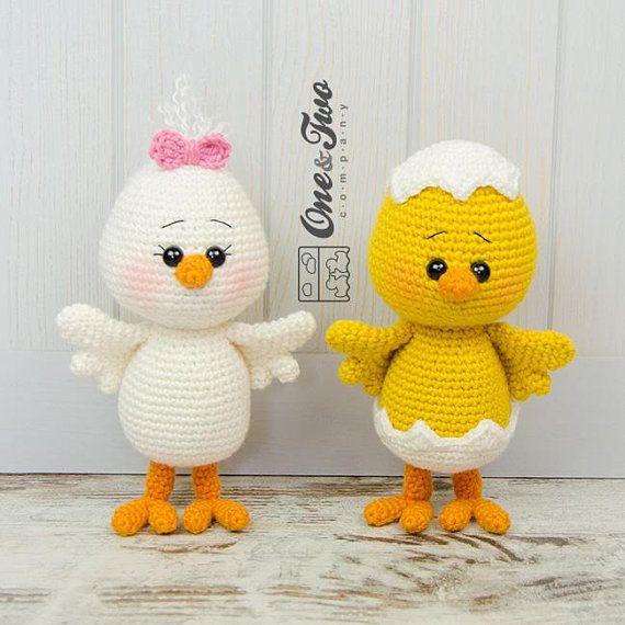 Amigurumi Pattern - Chicken PDF Crochet Pattern - Tutorial Digital Download DIY - Coco the Little Chicken Amigurumi - Plush Toy Gift #amigurumicrochet