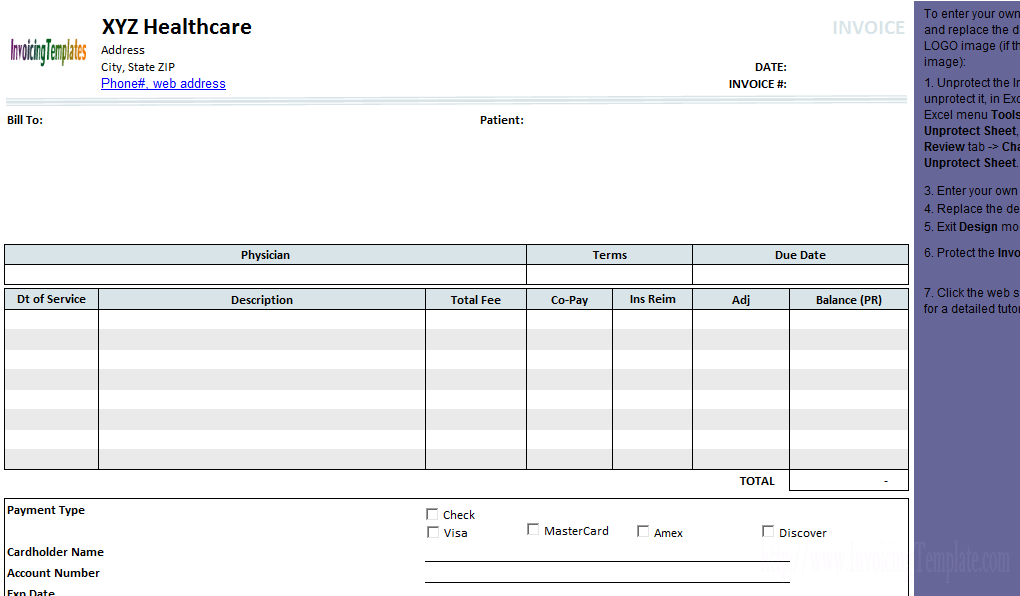 Medical Invoice Template   Freeware Edition  Download