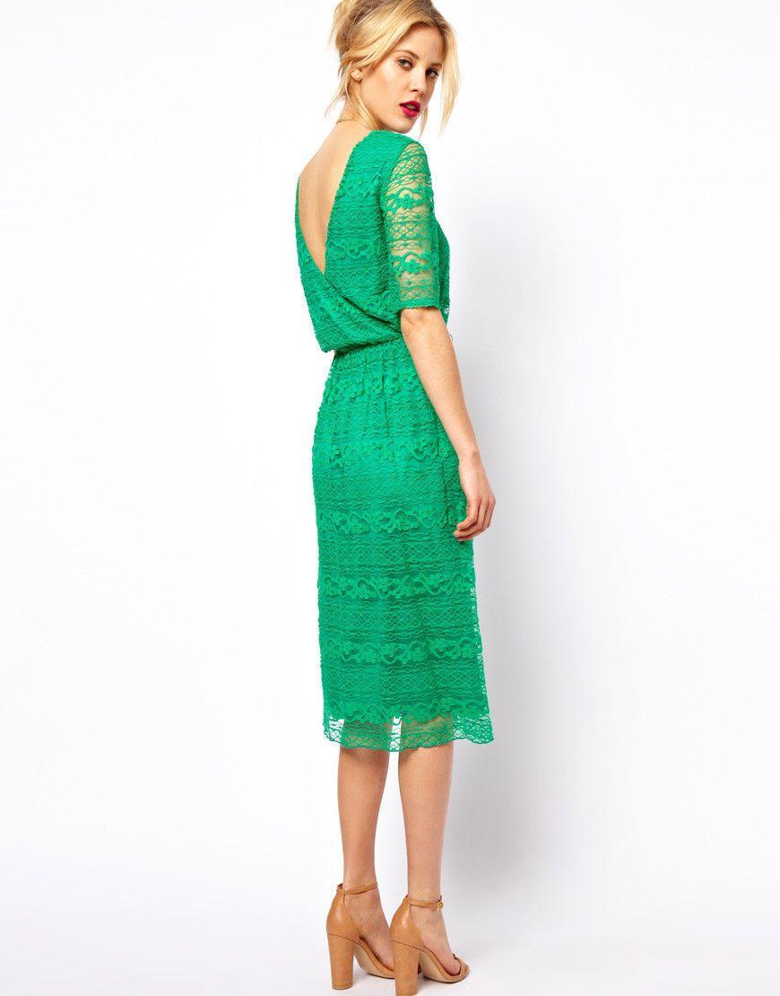 Green lace dress uk