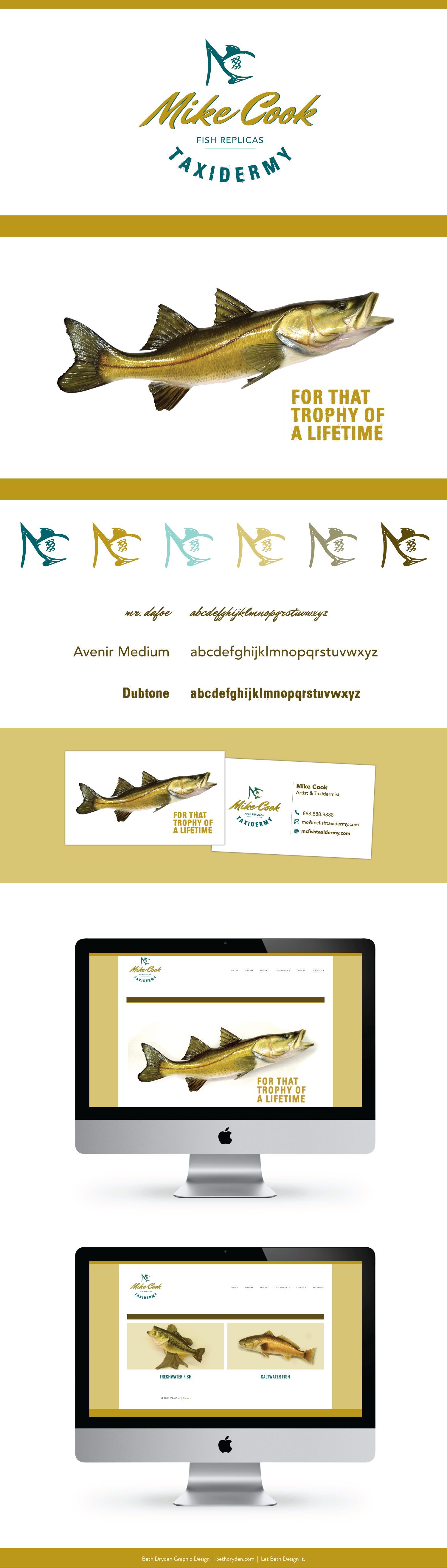 Logo & Web Design | Mike Cook Fish Replica & Taxidermy | Designed by ...