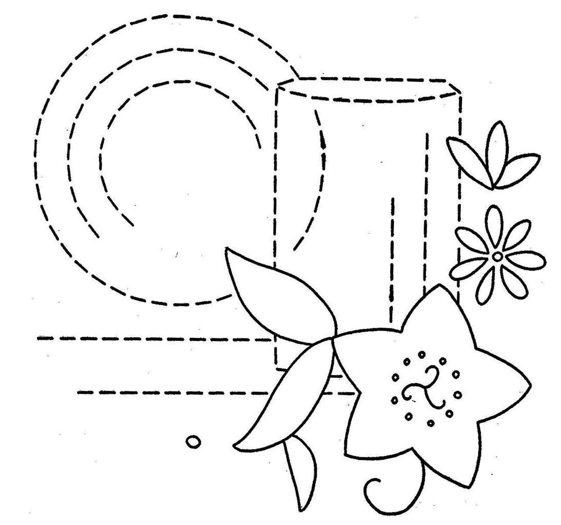 Plate and Glass vintage embroidery pattern | fantasias | Pinterest ...