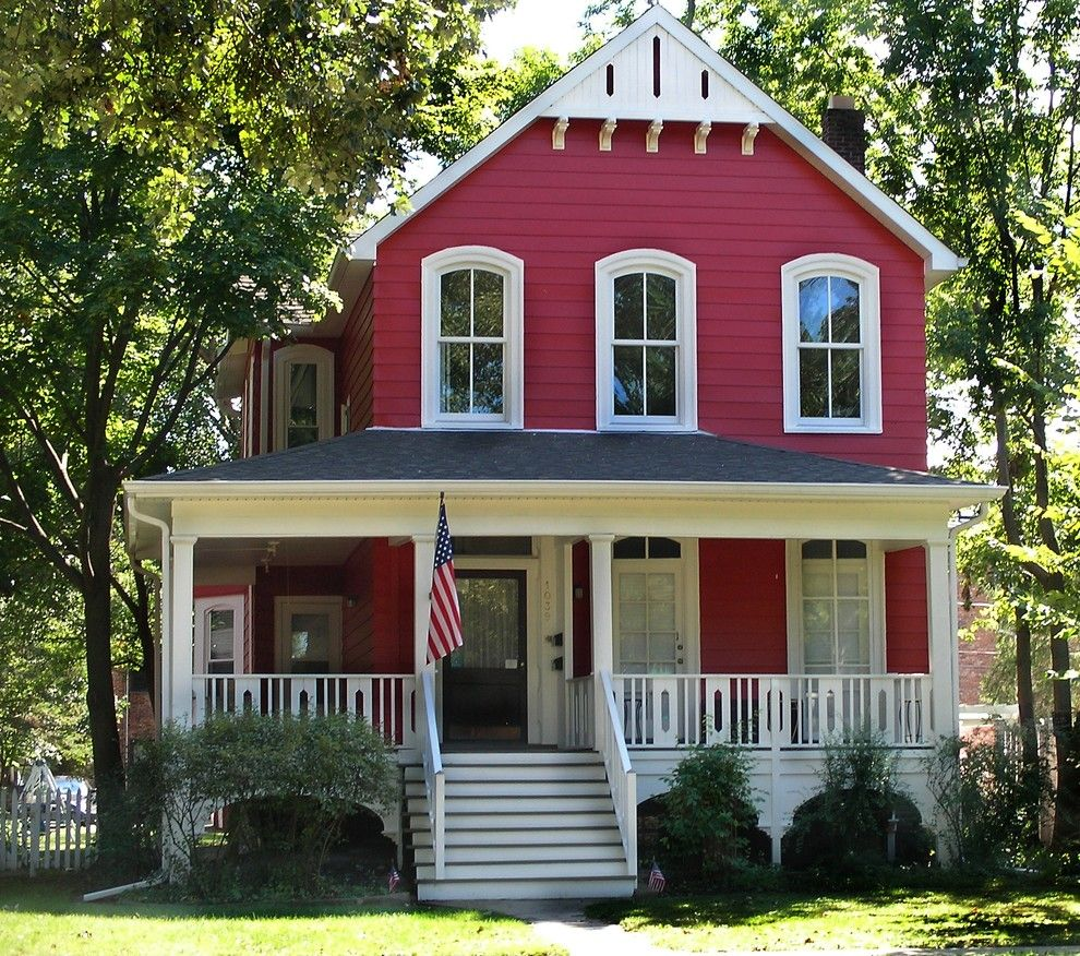 Superb red house exterior farmhouse design ideas with cottage curb appeal exterior exterior trim - Red exterior wood paint plan ...
