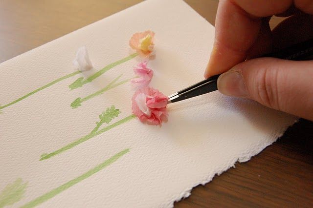 Tissue Flower Card With Images Tissue Paper Flowers Flower