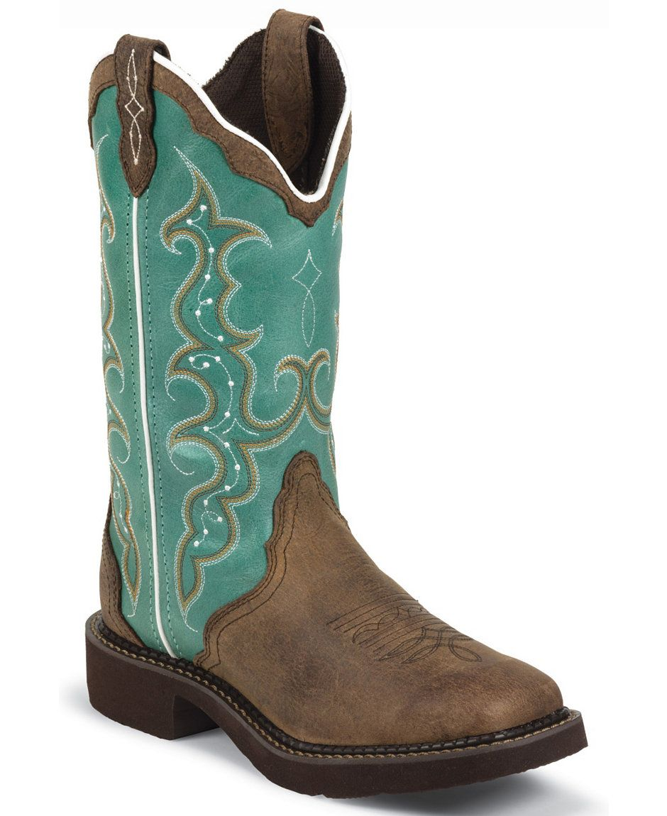 6963b4576c3 Justin Gypsy Women's Raya Turquoise Cowgirl Boots - Square Toe ...