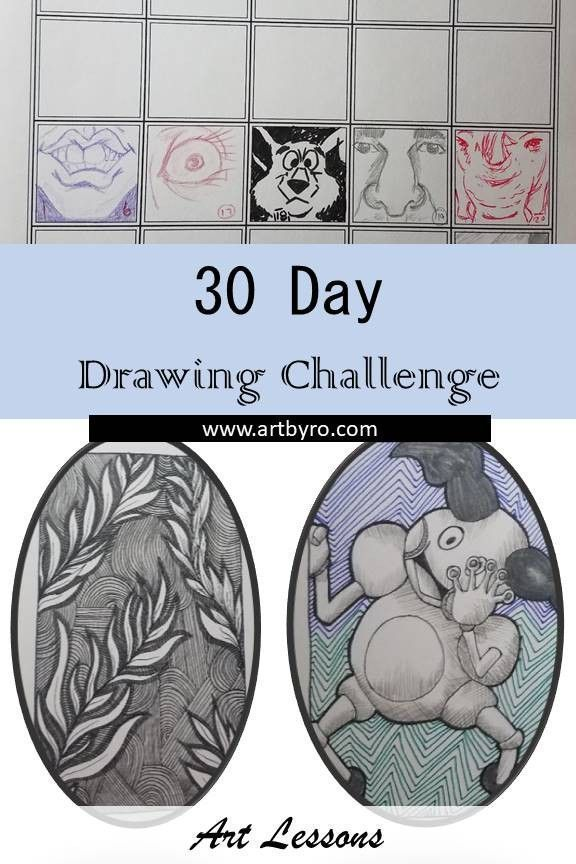Improve your drawing skills with a 30 day drawing challenge. Draw daily for 30 days. Learn how to start, and finish a daily challenge.  #learntodraw #...