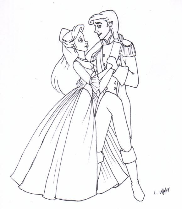 Tlm Ariel And Eric By Vertizart 579x668 Prince EricDisney Coloring PagesCraftingPrincessArielLittle