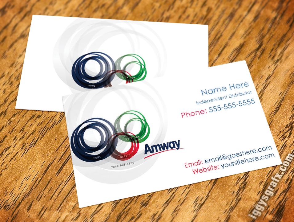 Circular Logo Amway Business Cards | Amway Business Cards ...
