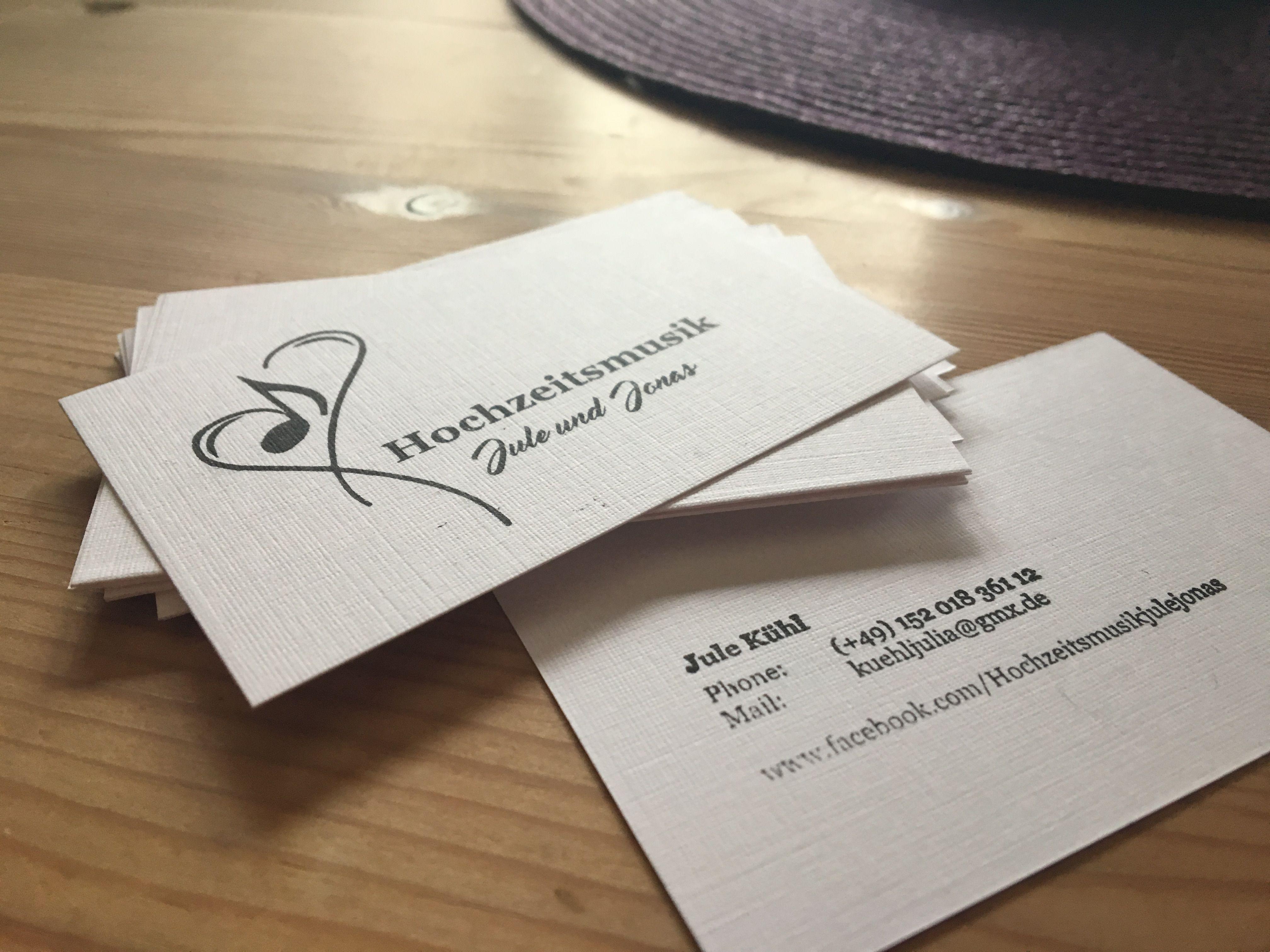 Stempel Visitenkarte Schlicht Hochzeitsmusik Visitenkarte