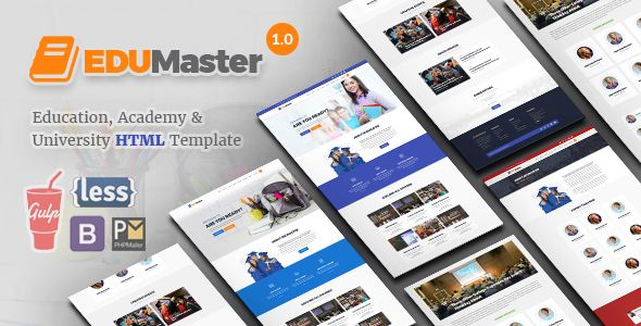 EduMaster - Education HTML Template | Responsive email, Template and ...
