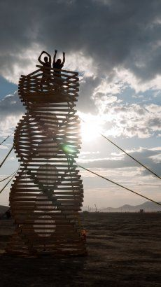 helix spire at burning man