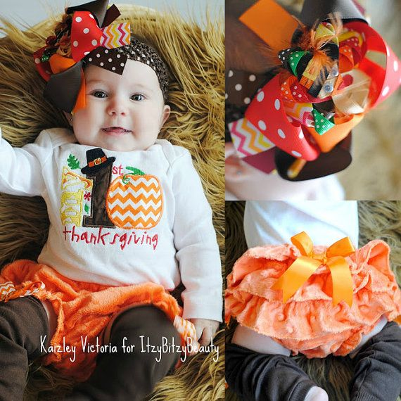 My first thanksgiving baby girl outfit leg by Itzybitzybeauty
