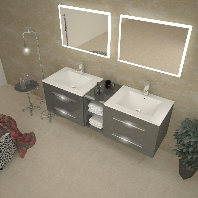 Pin By Hannah Fulford On House Bathroom Double Basin Vanity Unit