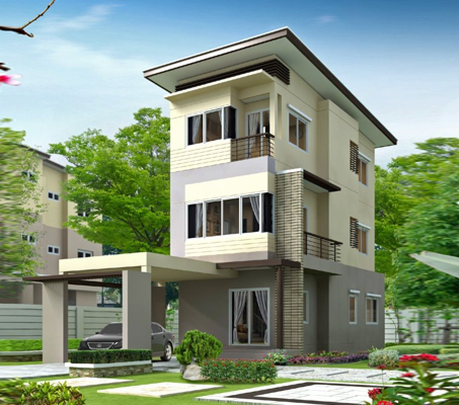 House design idea 6x15 with 3 bedrooms House Plans 3D in