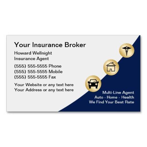 Insurance Broker Business Cards Zazzle Com In 2020 Insurance