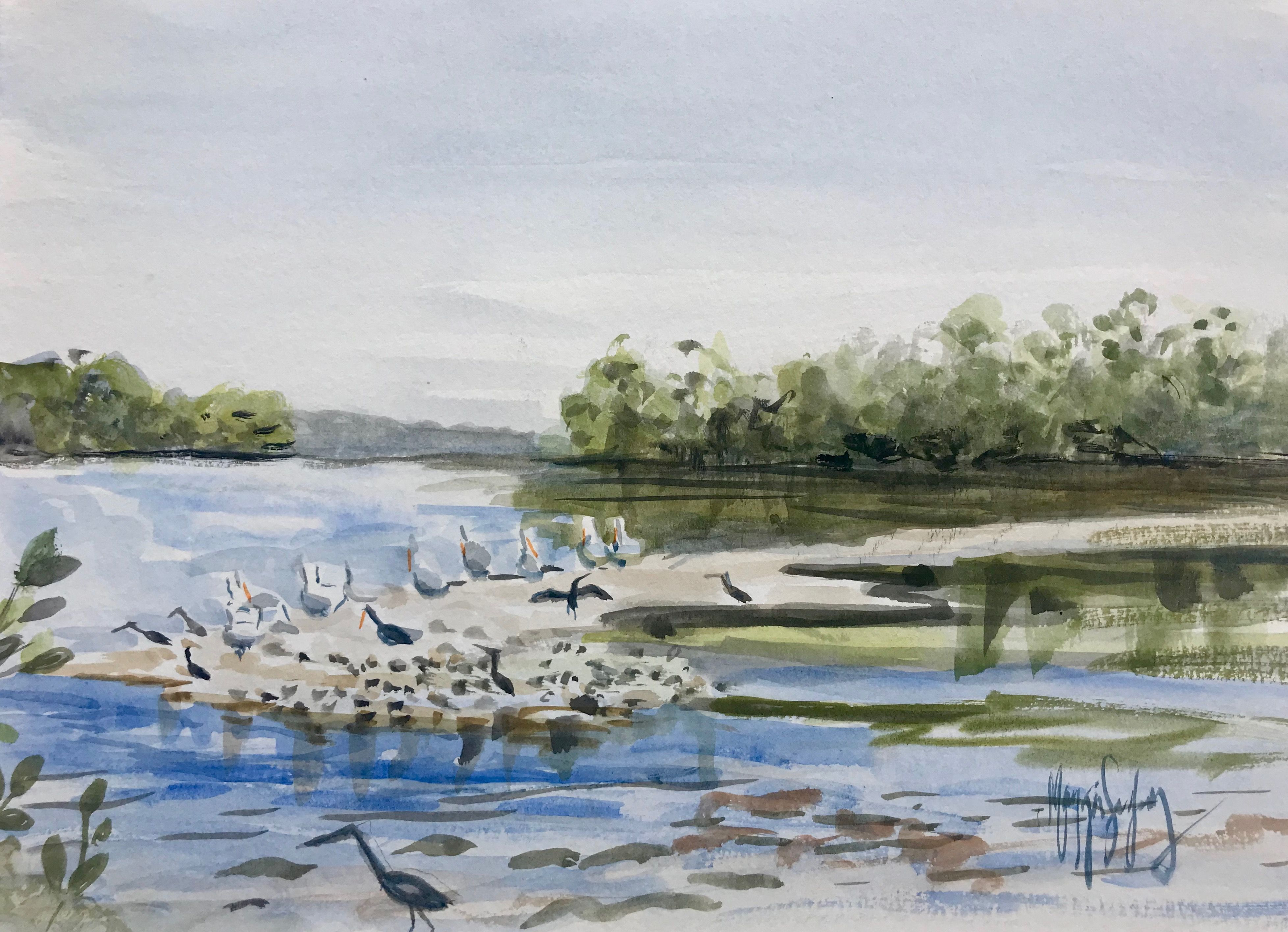 A Plein Air Watercolor I Created On Sanibel Island Plein Air