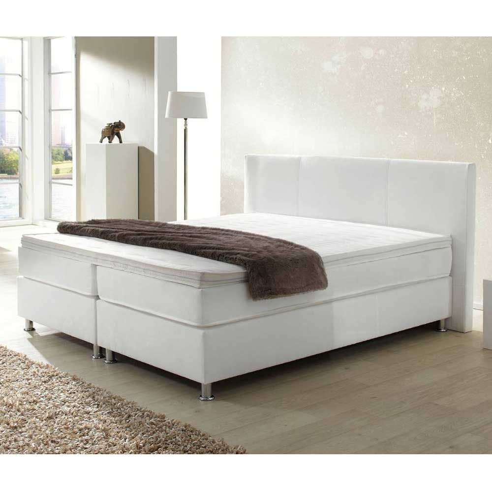 Boxspring Unterbau Boxspringbett Eva In Weiß Betten Bed Home Decor Furniture