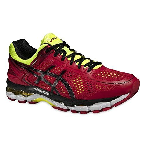 Asics Herren Laufschuhe Gel-Kayano 22 T547N RED PEPPER/BLACK/FLASH YELLOW  48.5