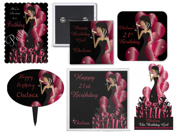 #Customize #Party Girl #Favors / #Invitations ...Great for a #Birthday or #Bachelorette Party.