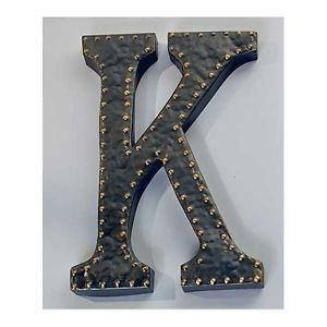 Vintage Metal Letters Large Initial Wall Art Decorative Alphabet Sculpture Sign Initial Wall Art Metal Letters Vintage Metal