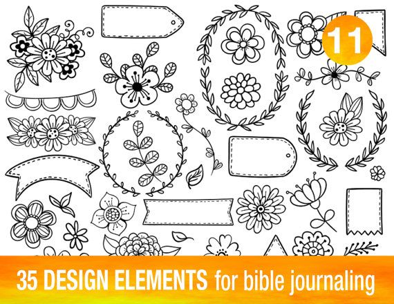 35 PRINTABLE TEMPLATES For Bible Journaling Verse Art Illustrated