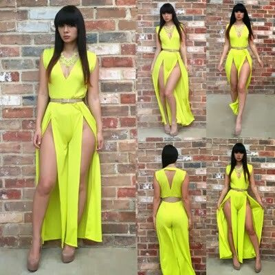 Yellow Sexy Dress