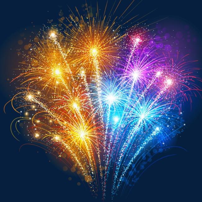 رائع ملون متعدد الالعاب النارية احتفالا بالعام الجديد بلوم Fireworks Images Fireworks Background New Year Fireworks