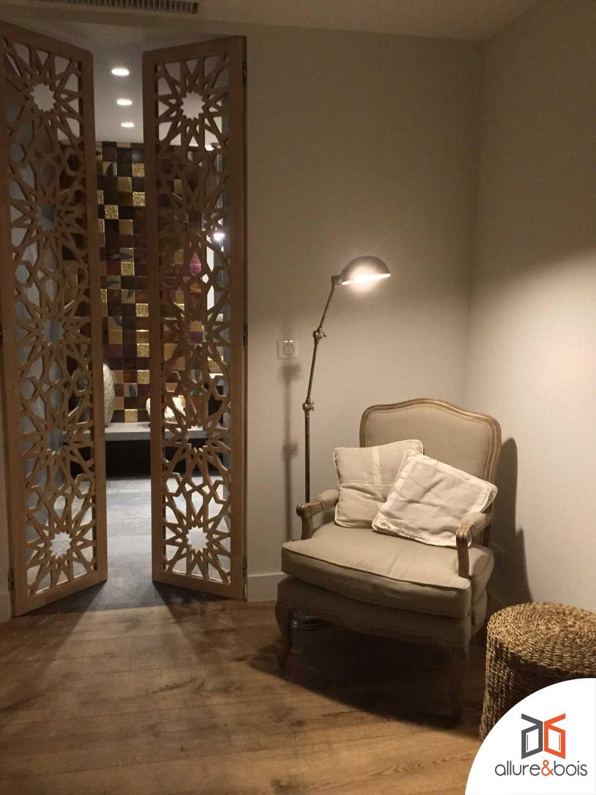 Portes battantes modernes spa en 2019 moucharabieh claustra et porte battante - Decor de portes interieures ...