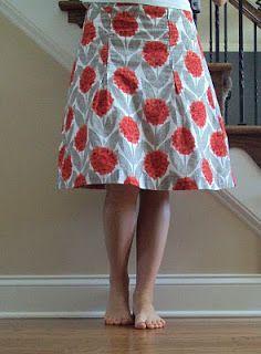Free-style handmade skirt