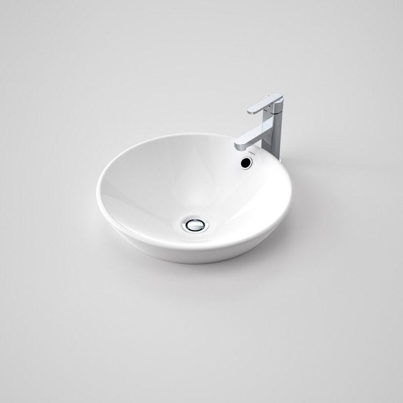 Caroma Leda Vasque Inset Basin No Tap Hole White