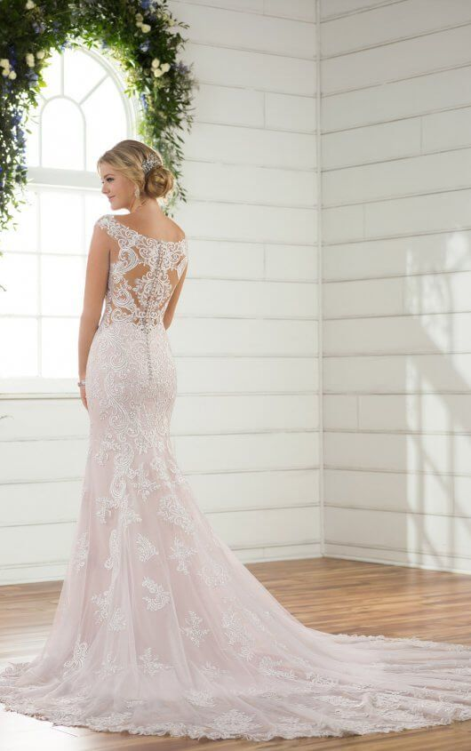 D2322 Column Backless Wedding Dress By Essense Of Australia