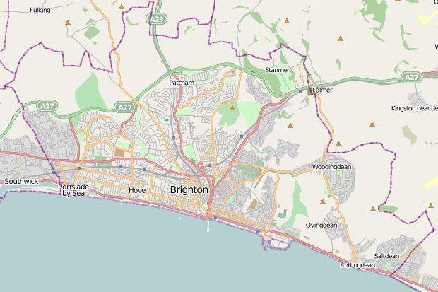 Map of Brighton Hove MAPS Brighton Hove Pinterest