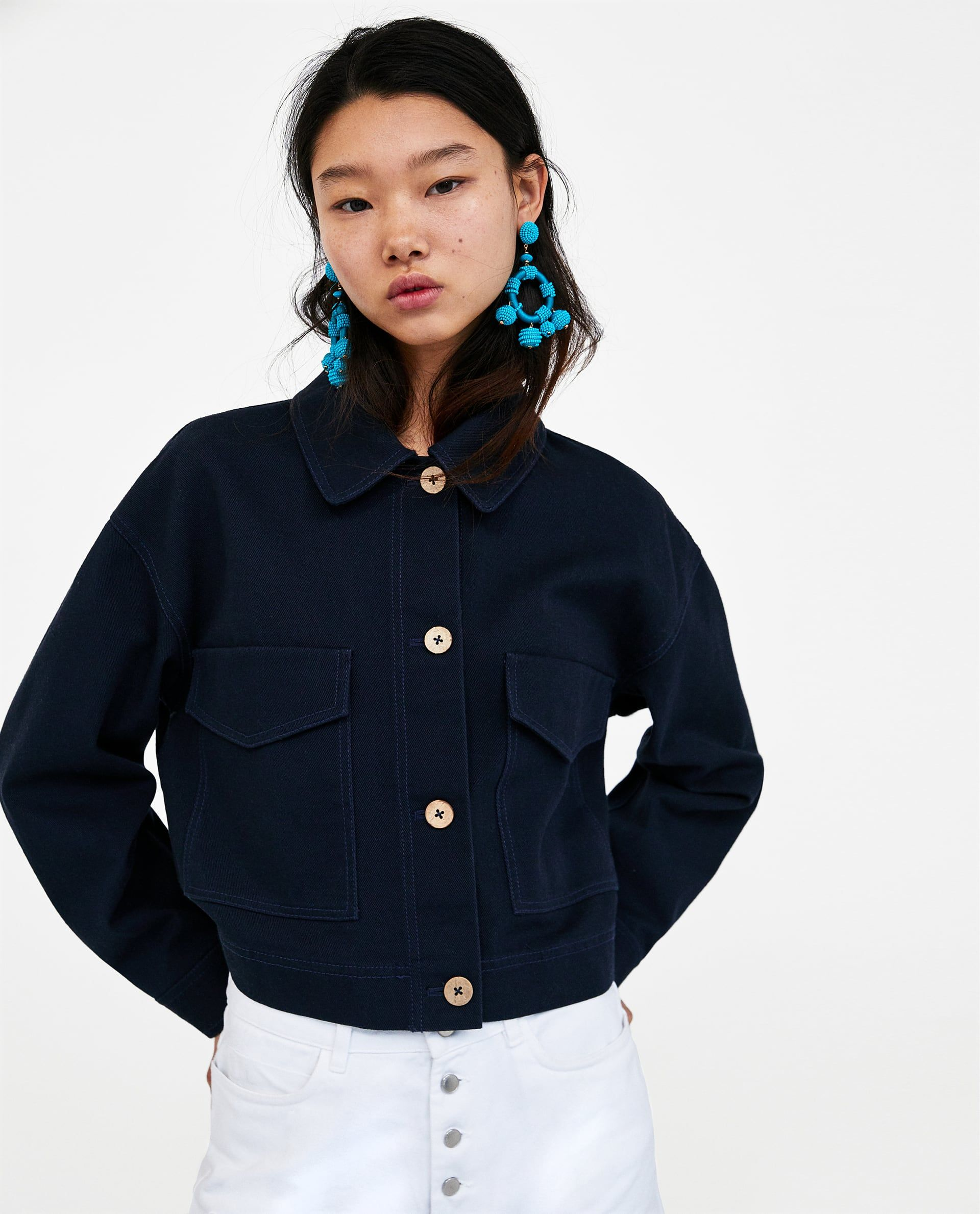 a5cb3bbb71e Image 2 of CROPPED JACKET WITH POCKETS from Zara | high fashion ...
