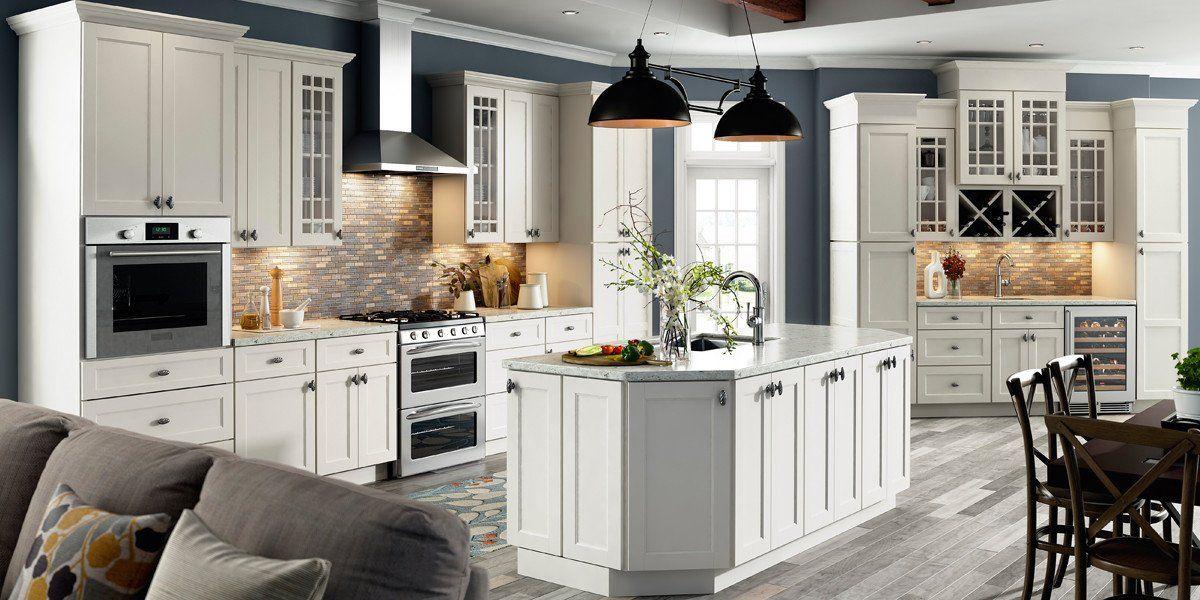 Trenton Ivory Shaker Recessed Panel Rta Kitchen Cabinets A
