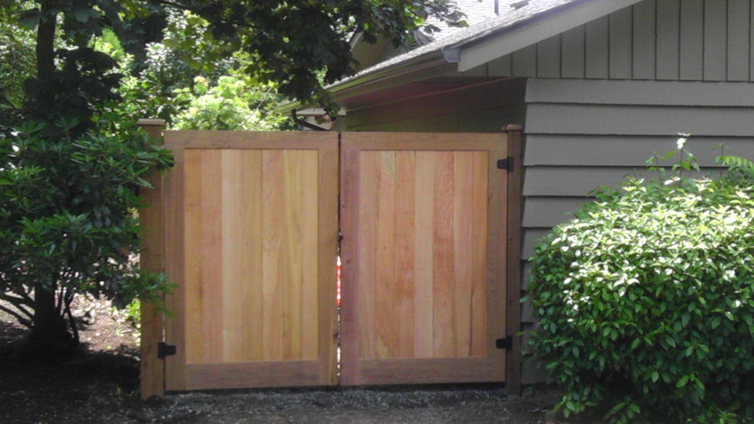 Garbage Enclosure Double Gates Black Diamond Fencing