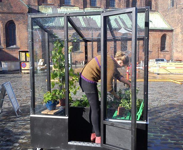Stylish Urban Greenhouse On Wheels Urban Garden Greenhouse Greenhouse Plans