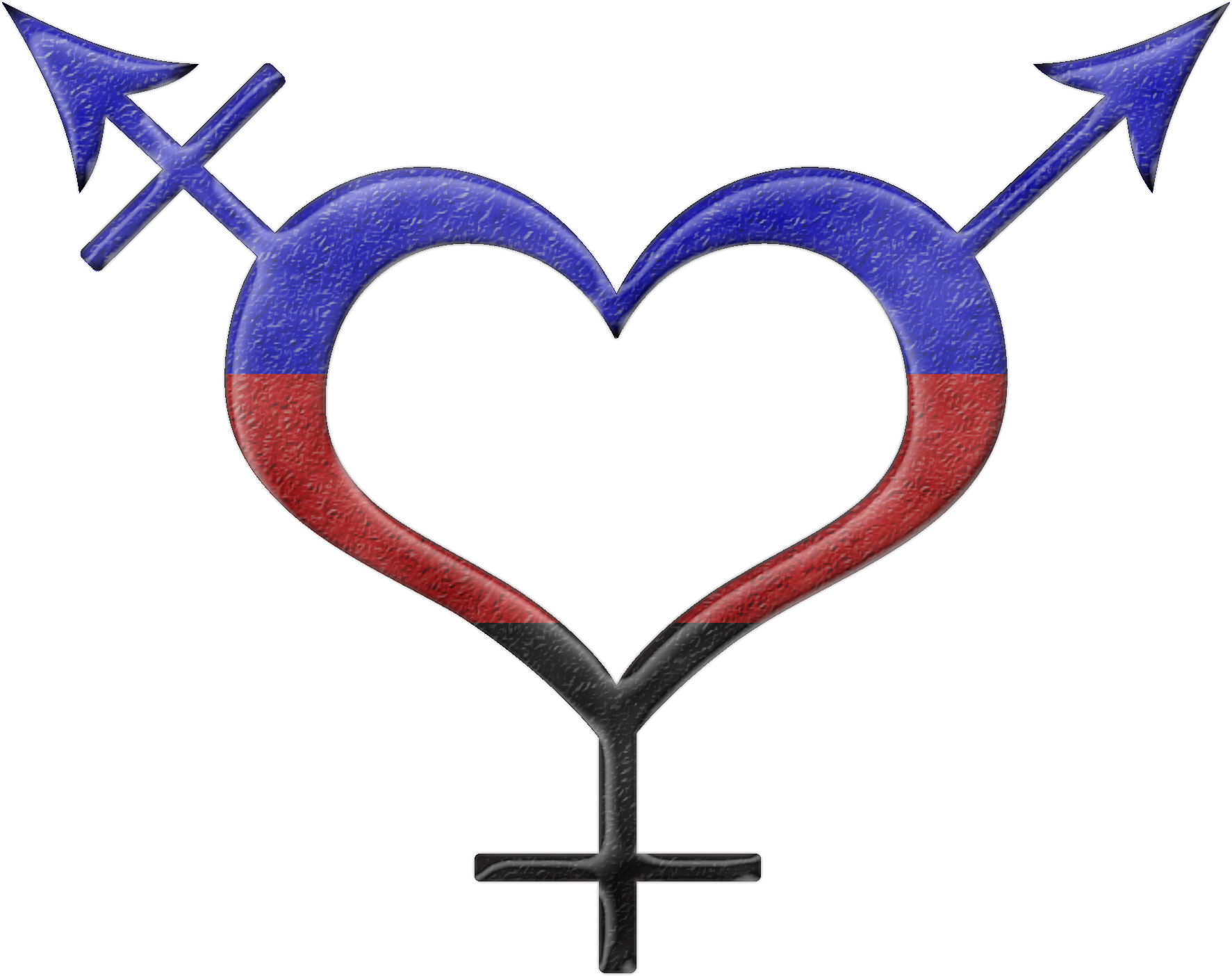 Polyamory Pride Heart Shaped Gender Neutral Symbol In Matching Pride