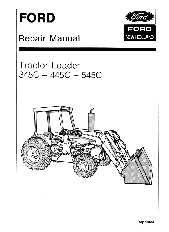 Ford 345C, 445C, 545C Backhoe Loader Tractor Service