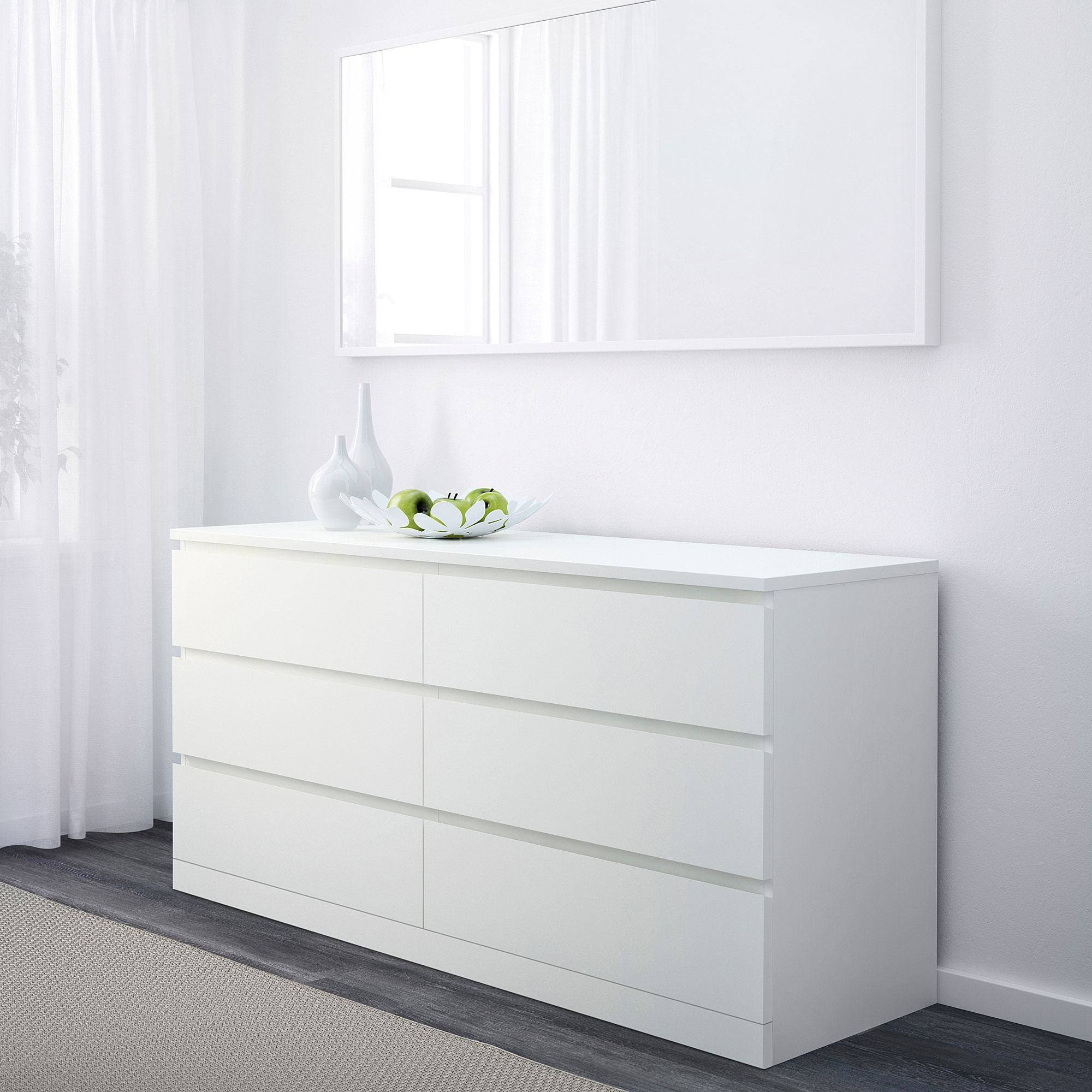 Malm Chest Of 6 Drawers White 160x78 Cm Ikea In 2020 Ikea Bedroom Furniture 6 Drawer Dresser Dresser Drawers