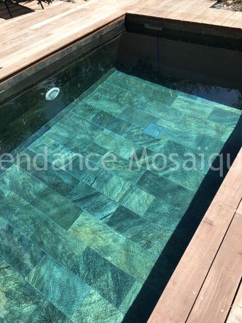 Concept Mosaique Piscine Pierre Naturelle Quartzite Photo